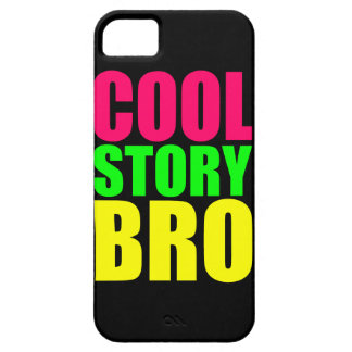 Historia fresca de neón Bro iPhone 5 Case-Mate Protectores