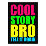 Historia fresca de neón Bro Invitacion Personalizada