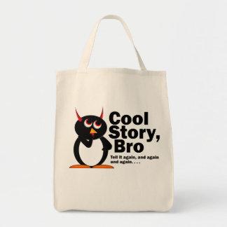 ¡Historia fresca malvada Bro de Penguin™! Bolsa Tela Para La Compra