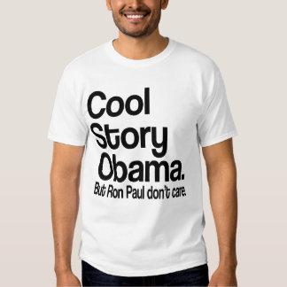 Historia fresca Obama.  Ron Paul no cuida Playera
