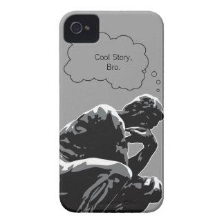 Historia fresca, pensador de Bro iPhone 4 Case-Mate Cárcasa