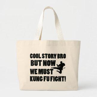 Historia fresca pero ahora debemos lucha de Kungfu Bolsa De Mano