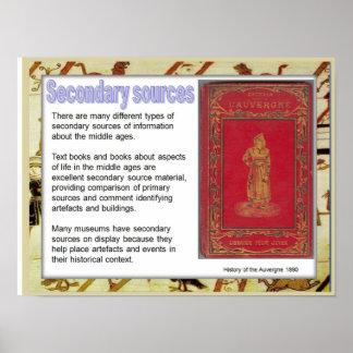 Historia, fuentes medievales, secundarias póster