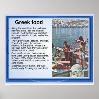 Historia, Grecia antigua, comida griega y pesca Póster