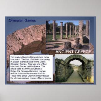 Historia, Grecia antigua, juegos olímpicos Posters