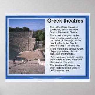 Historia, Grecia antigua, teatros Póster