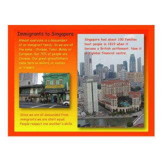 Historia, historia, inmigrantes a Singapur Postales