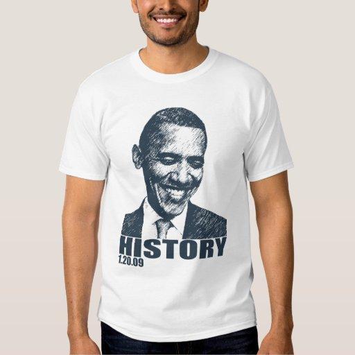 HISTORIA - inauguración 1/20/09 de Obama Playeras