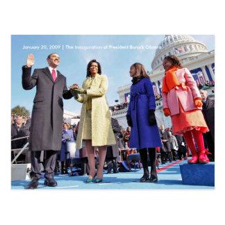 HISTORIA: Inauguration Ceremony de presidente Obam Tarjeta Postal