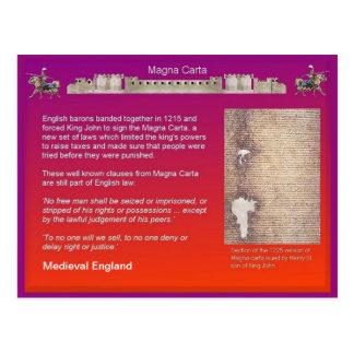 Historia, Inglaterra medieval, Carta Magna Tarjeta Postal