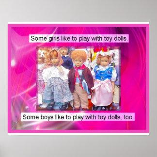 Historia juguetes en el pasado muñecas poster