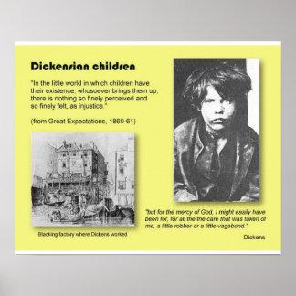Historia literatura Dickens niños de Dickensian Poster