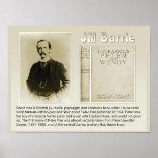 Historia, literatura, JM Barrie, autor de Peter Pa Póster