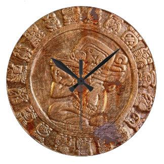 Historia mexicana azteca tallada maya del reloj redondo grande