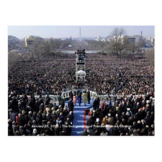 HISTORIA: Muchedumbre en la inauguración de Obama Tarjetas Postales