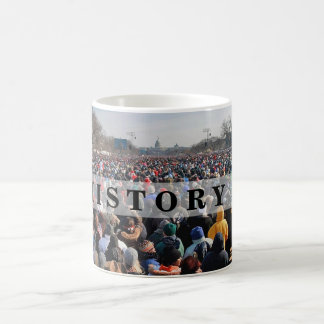 HISTORIA: Muchedumbre en presidente Obama Inaugura Tazas