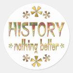HISTORIA nada mejor Etiquetas Redondas