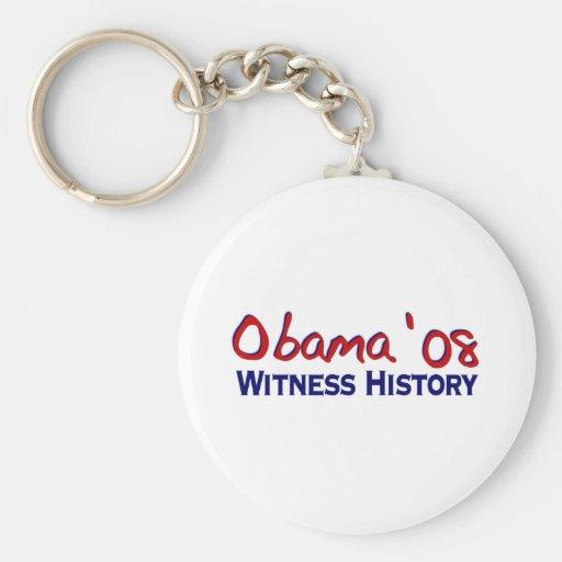 Historia Obama 08 del testigo Llaveros Personalizados