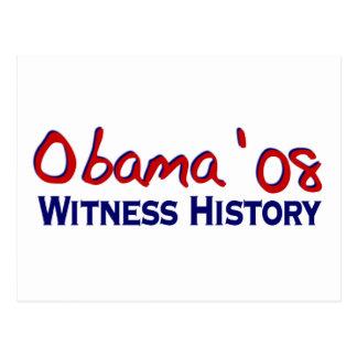 Historia Obama 08 del testigo Postales