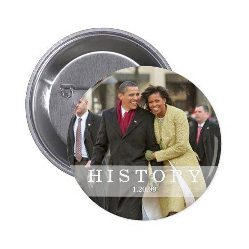 HISTORIA: Presidente Barack y Michelle Obama Pin