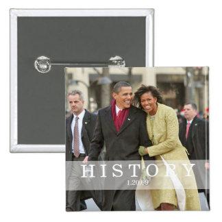 HISTORIA: Presidente Barack y Michelle Obama Pin Cuadrada 5 Cm