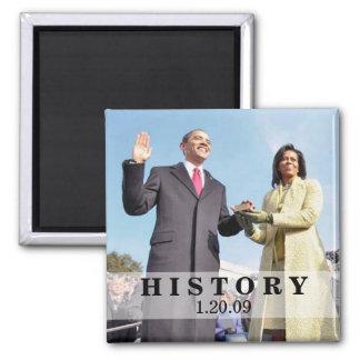 HISTORIA: Presidente Obama Inauguration Imán Para Frigorífico