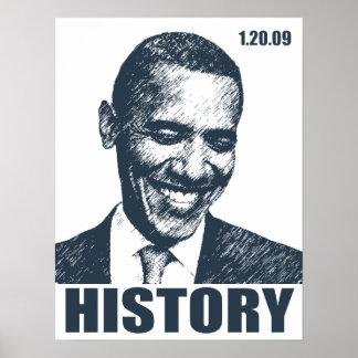HISTORIA - presidente Obama Inauguration Póster