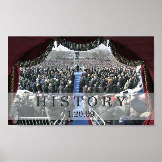 HISTORIA: Presidente Obama Inauguration Speech Póster