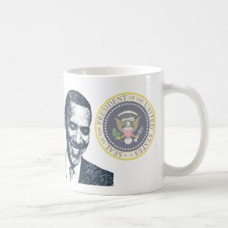 HISTORIA - presidente Obama Inauguration Tazas De Café