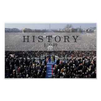 HISTORIA: Presidente Obama Swearing en ceremonia Posters