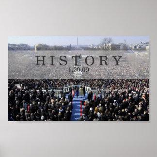 HISTORIA: Presidente Obama Swearing en ceremonia Póster