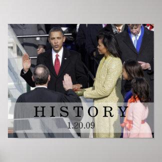 HISTORIA: Presidente Obama Swearing In Ceremony Impresiones