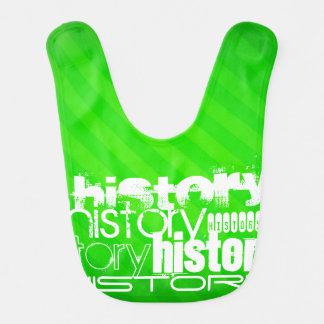 Historia; Rayas verdes de neón Babero