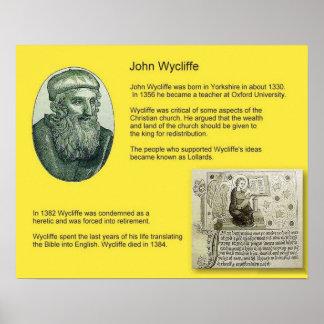 Historia reforma Juan Wycliffe Posters