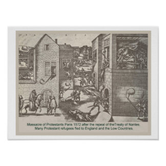 Historia, reforma, masacre de Protestants Posters