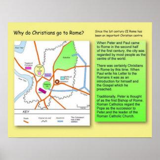 Historia, religión, cristianos en Roma antigua Posters