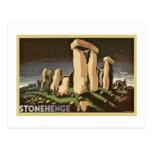 Historia retra 'Stonehenge de Sci Fi del vintage Tarjetas Postales