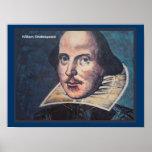 Historia, retrato de William Shakespeare Posters