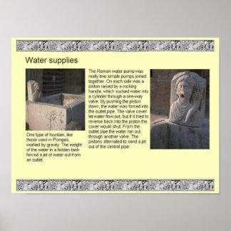 Historia, romanos, abastecimientos de agua póster