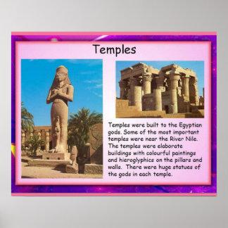Historia, templos de Egipto antiguo Póster