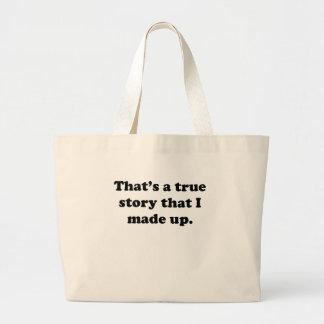 Historia verdadera bolsa tela grande