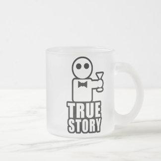 Historia verdadera taza de cristal