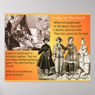 Historia Victorians siglo XIX playa Poster