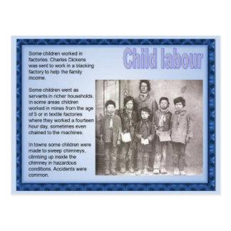 Historia, Victorians, trabajo infantil Tarjeta Postal