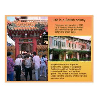 Historia, vida en una colonia británica tarjetas postales
