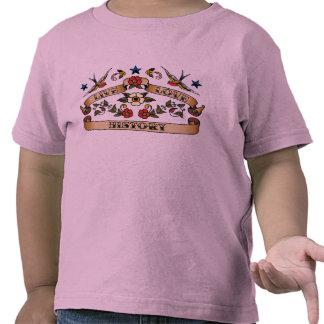 Historia viva del amor camisetas