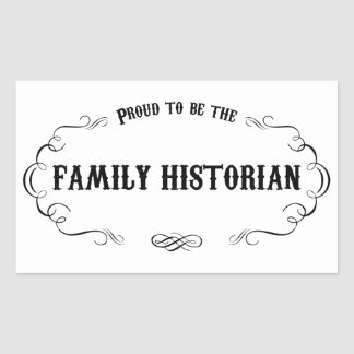 Historiador de la familia pegatina rectangular