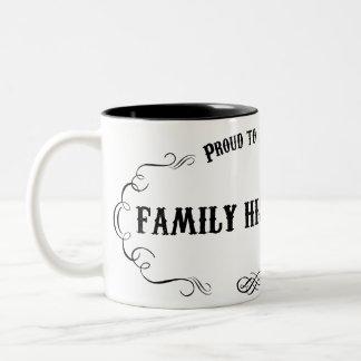 Historiador de la familia taza de café de dos colores