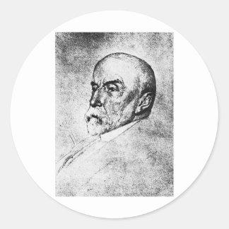 Historiador del escritor de Henry Adams del ~ de Pegatinas Redondas