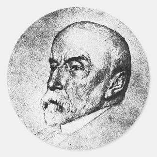 Historiador del escritor de Henry Adams del ~ de Pegatina Redonda